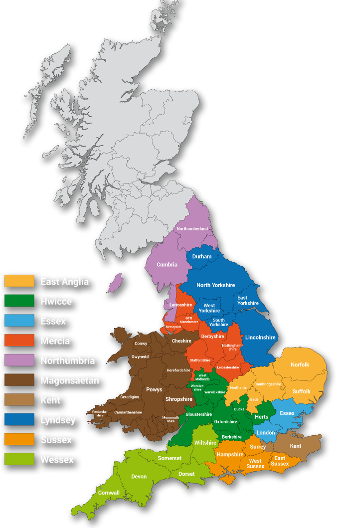 Map Of England Provinces.The Masonic Order Of Athelstan Province Of Sussex